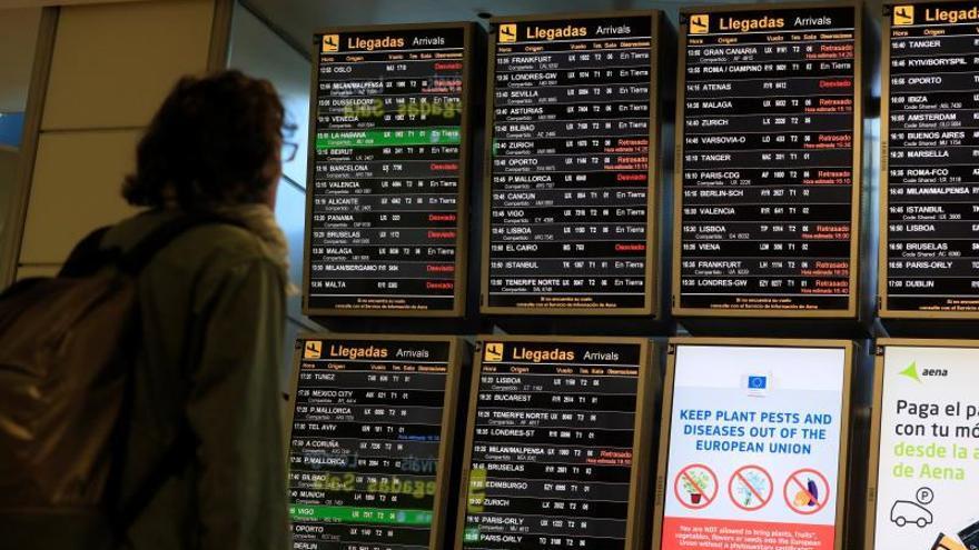 Los vuelos gestionados por Enaire cayeron un 94,7 % en abril