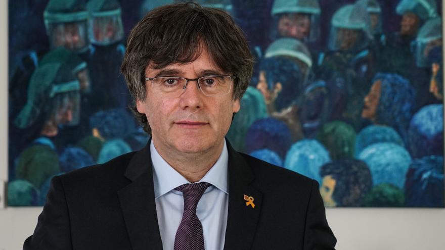El expresident de la Generalitat y candidato de JxCAT a las europeas, Carles Puigdemont