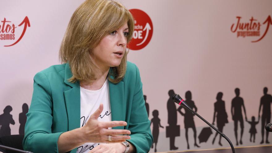 La portavoz del grupo parlamentario socialista en las Cortes de Castilla-La Mancha, Ana Isabel Abengózar