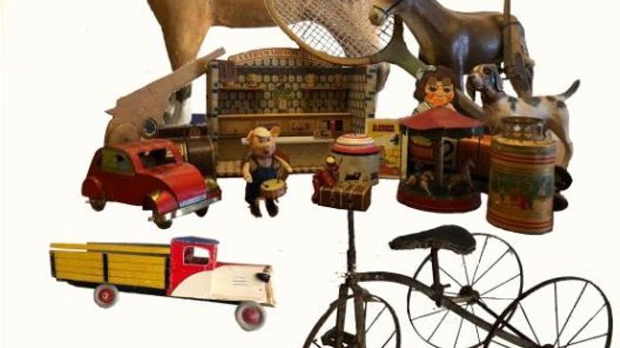 Exposición de juguetes antiguos en Quintanar de la Orden