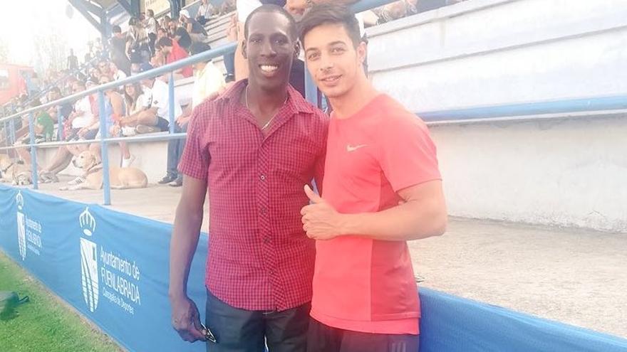 Carlos Pérez junto a Luis Felipe Méliz.