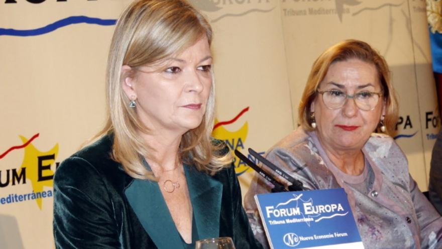 La consellera de Justicia, Gabriela Bravo, en el Fórum Europa.