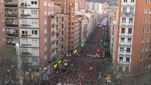 Imagen de la manifestación de Sare en Bilbao