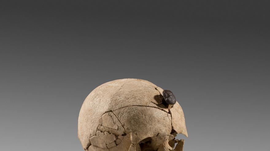 Cráneo con clavo (s.III a.C) Ullastret (Girona)/ Cedida por el Museo d'Arqueologia de Catalunya