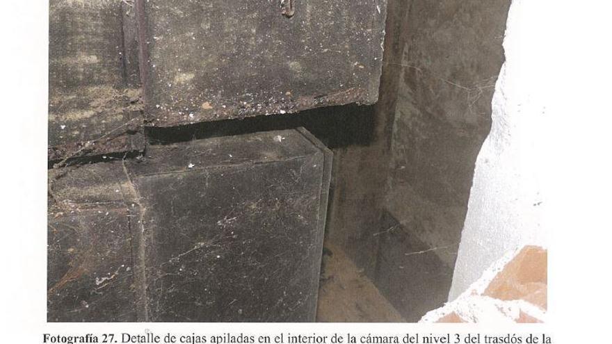 Cajas de la cámara 3 de la Capilla del Santo Sepulcro.
