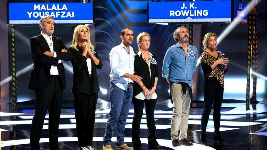 El presentador Juanma López y Bibiana Fernández en Crush