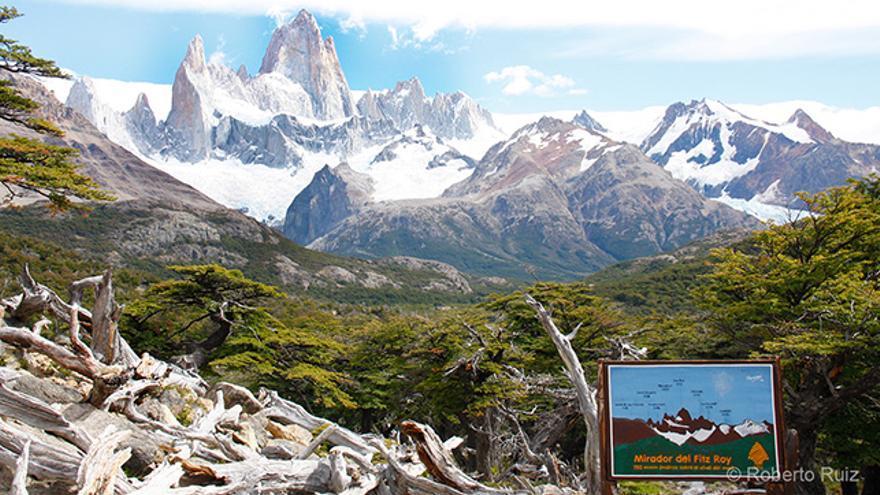 Monte Fitz Roy en El Chaltén, Argentina