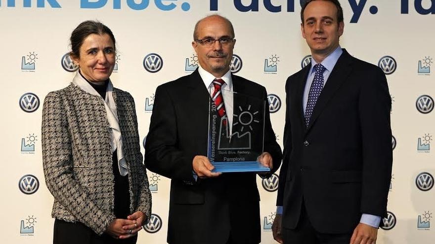 Volkswagen Navarra, premiada por la reducción del consumo de agua en la fabricación del Polo