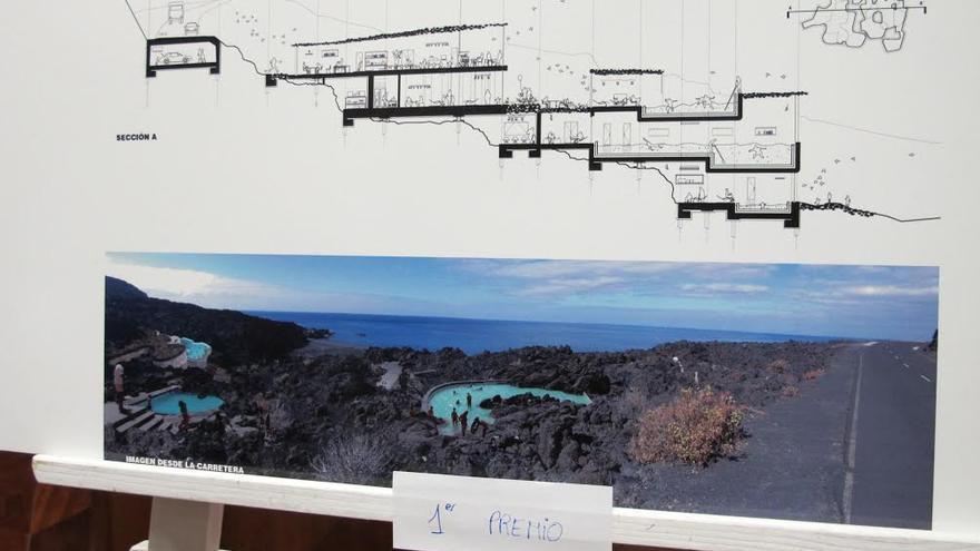 En la imagen, croquis del proyecto ganador del concurso de ideas de la Fuente Santa.