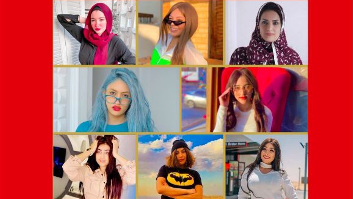 Imágenes colgadas en TikTok por las mujeres egipcias detenidas
