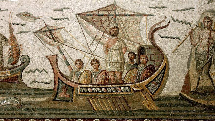 Mosaico exhibido en el museo del Bardo.
