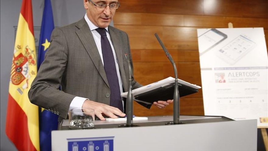 Alonso hará el miércoles en el Congreso balance de la ley de violencia de género