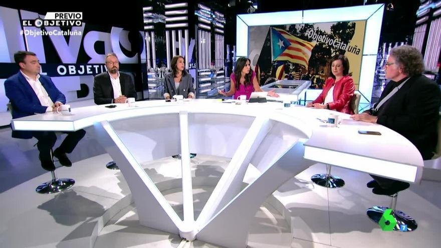 Debate en El Objetivo sobre Catalunya