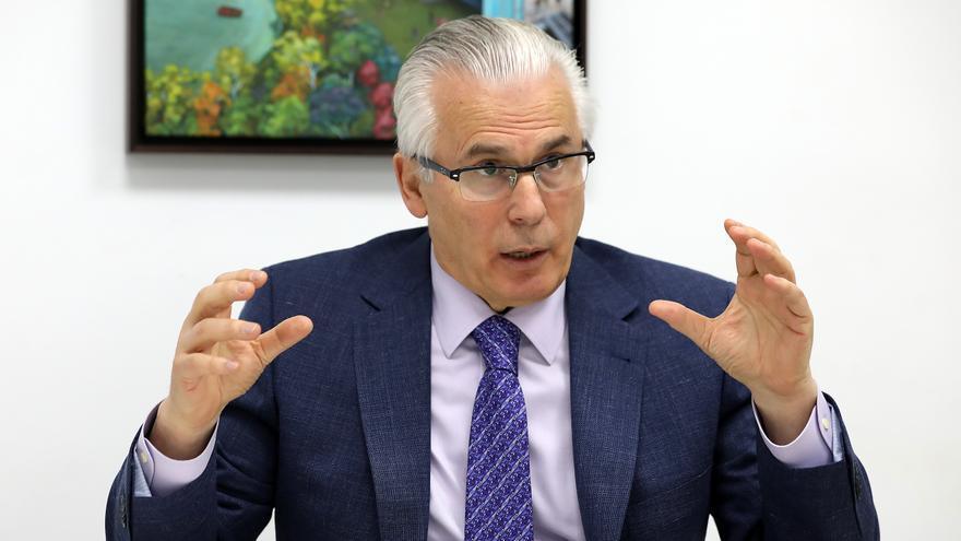 El ex juez Baltasar Garzón, durante la entrevista.