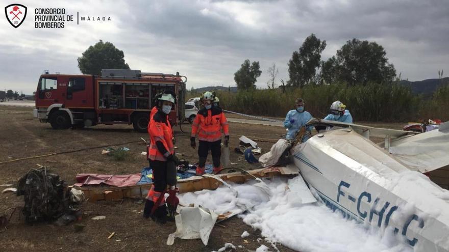 Un muerto y un herido al estrellarse una avioneta en Vélez-Málaga (Málaga)