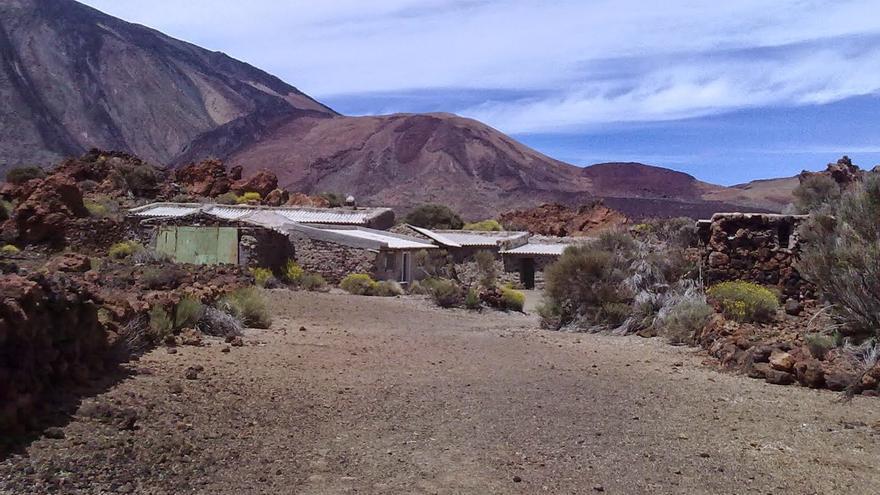 Las llamadas casas del Sanatorio, un paraje muy transitado del Teide, que es Patrimonio Mundial desde 2007