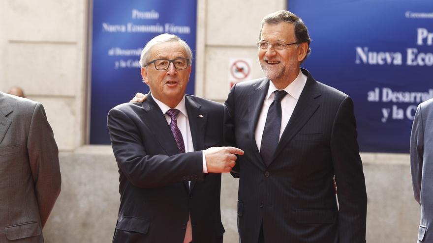 """Juncker defiende que España siga """"unida"""" y Rajoy elogia que sea un """"defensor de la unidad en la diversidad"""""""