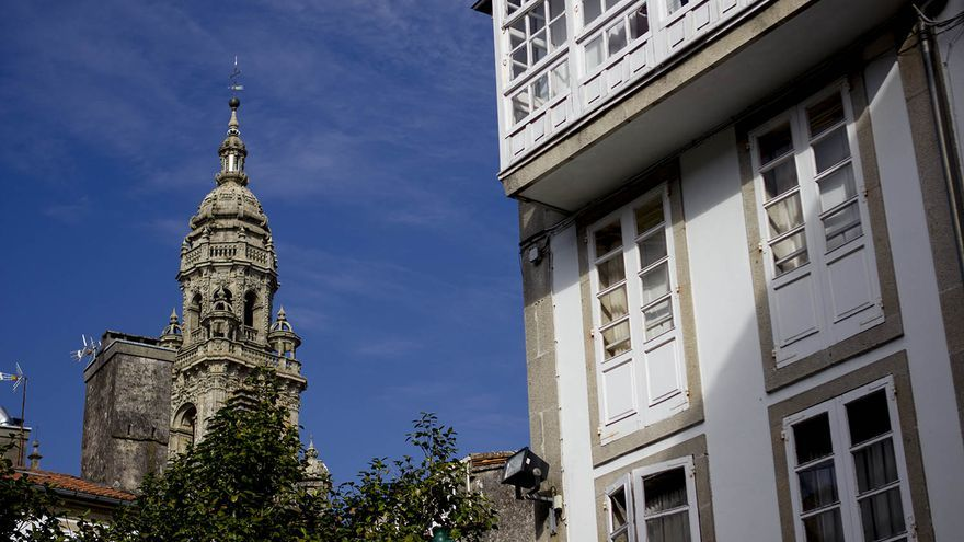 Detalles arquitectónicos en Santiago de Compostela.