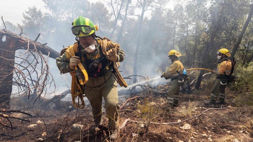 Controlado el incendio declarado el sábado en Sierra de la Silla (Mula)