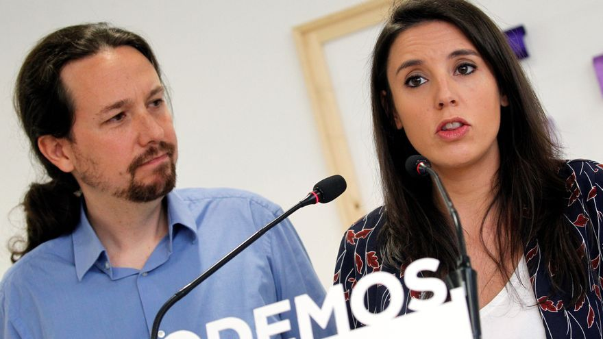 Pablo Iglesias e Irene Montero durante su comparecencia este sábado