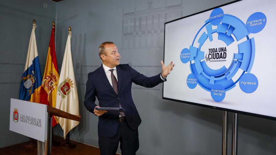 El alcalde de Las Palmas de Gran Canaria, Augusto Hidalgo, presenta los presupuestos de 2020.
