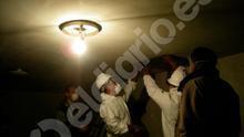 Los expertos de Patrimonio trabajando en las fosas del Valle de los Caídos