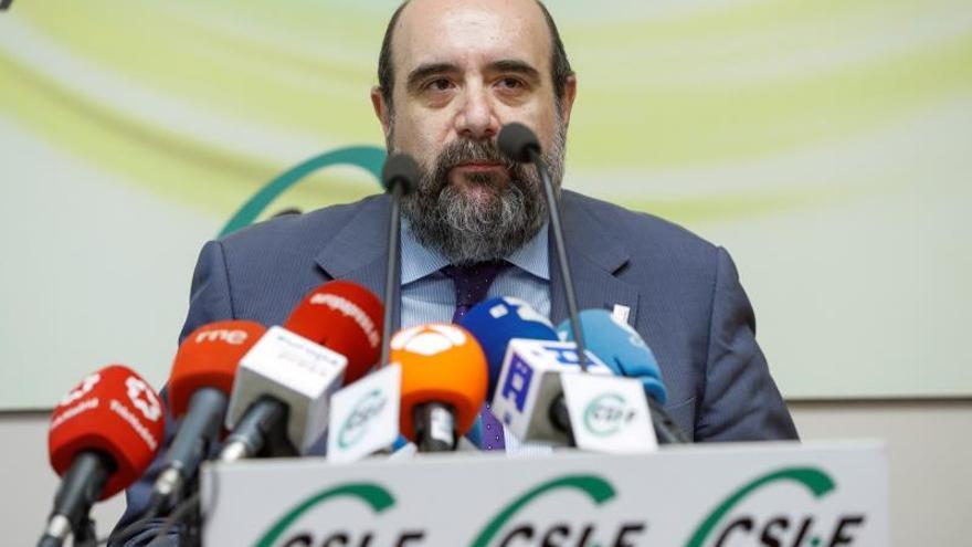 El presidente del Central Sindical Independiente y de Funcionarios (CSIF), Miguel Borra.