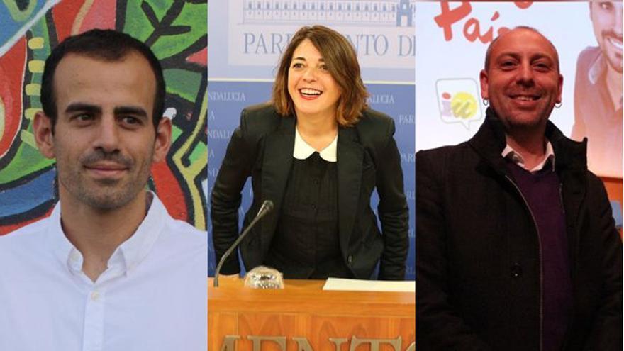 Miguel Ángel Bustamante, Elena Cortés y Ernesto Alba