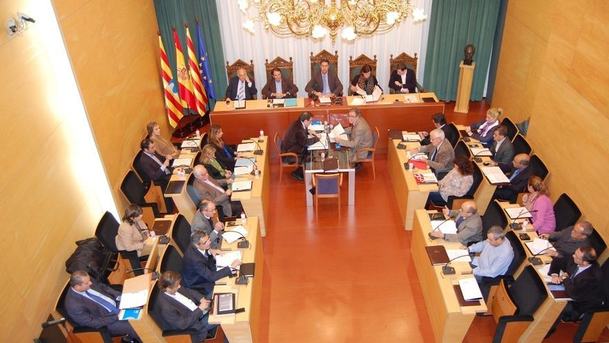 Imatge del ple de l'Ajuntament de Badalona