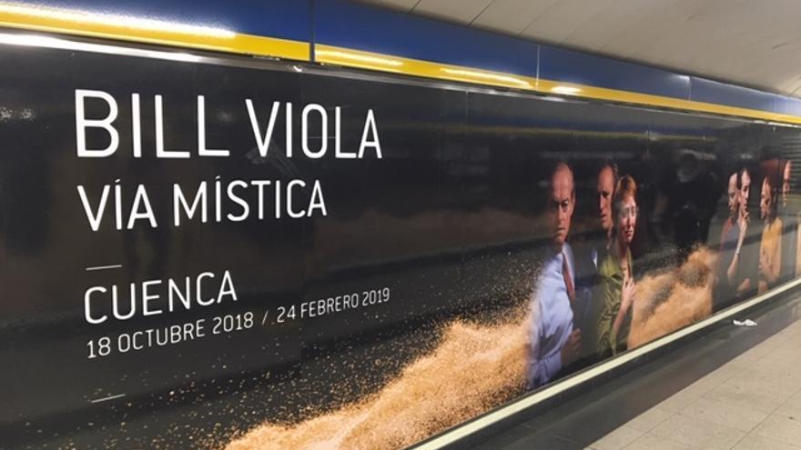 Publicidad de la exposición en la parada de metro de Sol FOTO: Teresa Sánchez