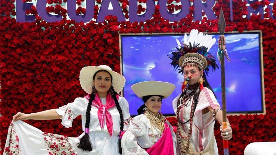 Vista del stand de Ecuador durante la inauguración de la Feria Internacional de Turismo Fitur 2020 celebrado en Ifema, Madrid este miércoles.