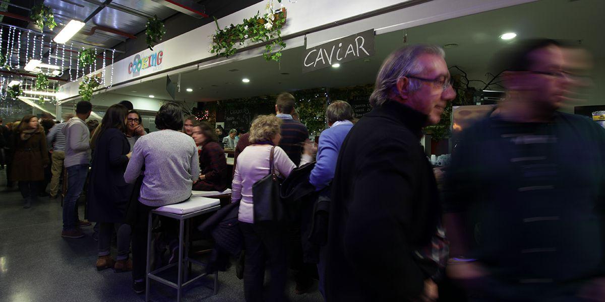 Un momento de la inauguración del Cooking Barceló | RAQUEL ANGULO