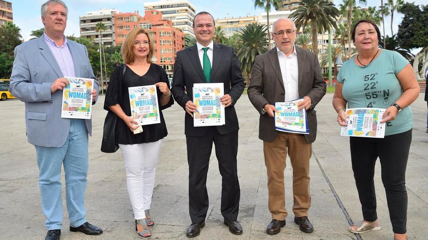 Presentación de Womad por los representantas del Cabildo, Ayuntamiento de Las Palmas de Gran Canaria y la directora del festival, Dania Dévora
