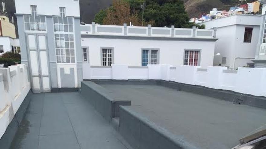 Las cubiertas  planas no transitables del Hospital de Dolores han sido impermeabilizas.