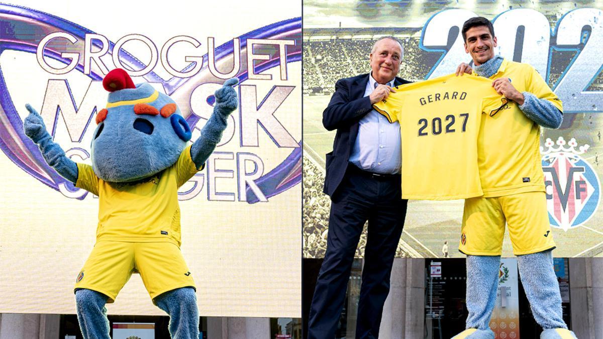 El Villarreal, a lo 'Mask Singer' para anunciar la renovación de Gerard Moreno