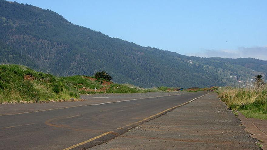 Foto de archivo de la antigua pista del aeropuerto viejo de Buenavista.