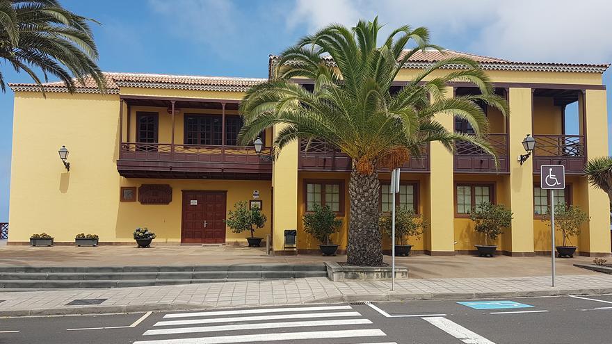 Fachada del Ayuntamiento de La Guancha, en la isla de Tenerife