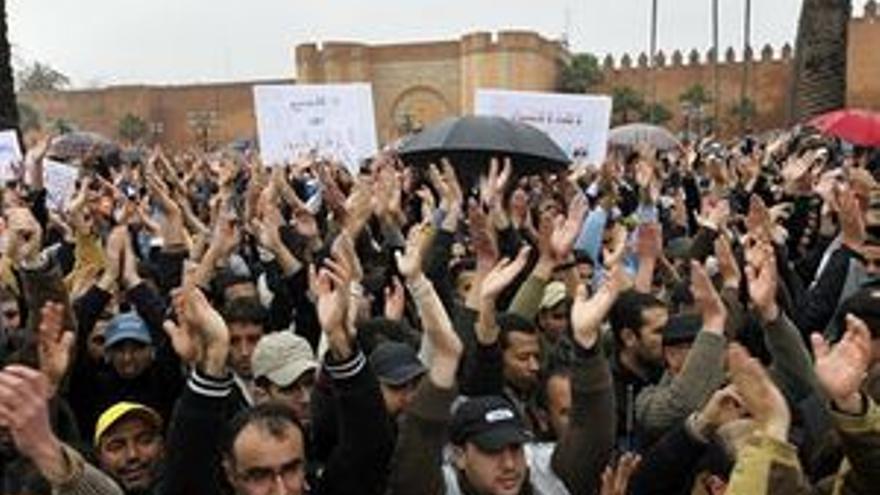 Manifestación en Marruecos.