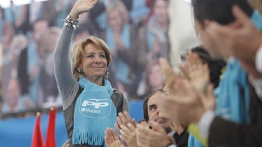 Esperanza Aguirre Junto A Aznar