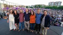 Mitin de cierre de campaña de Unidos Podemos, en Madrid.