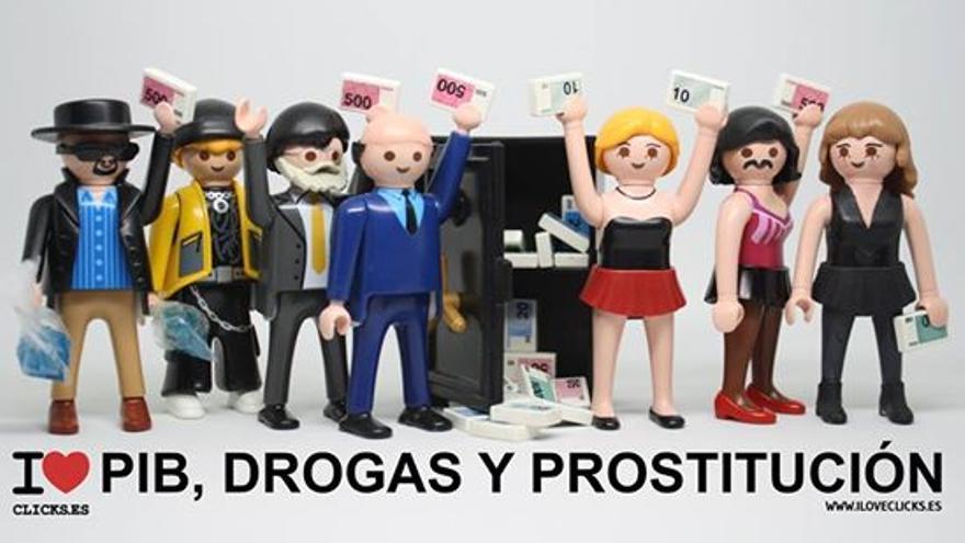 I love PIB, drogas y prostitución
