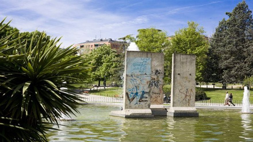 El Parque de Berlín, en Madrid, que alberga, desde noviembre de 1990, restos procedentes del muro de Berlín.
