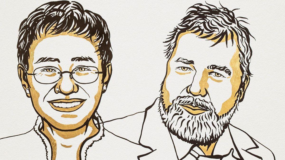 Maria Ressa y Dmitry Muratov, premios Nobel de la Paz 2021.
