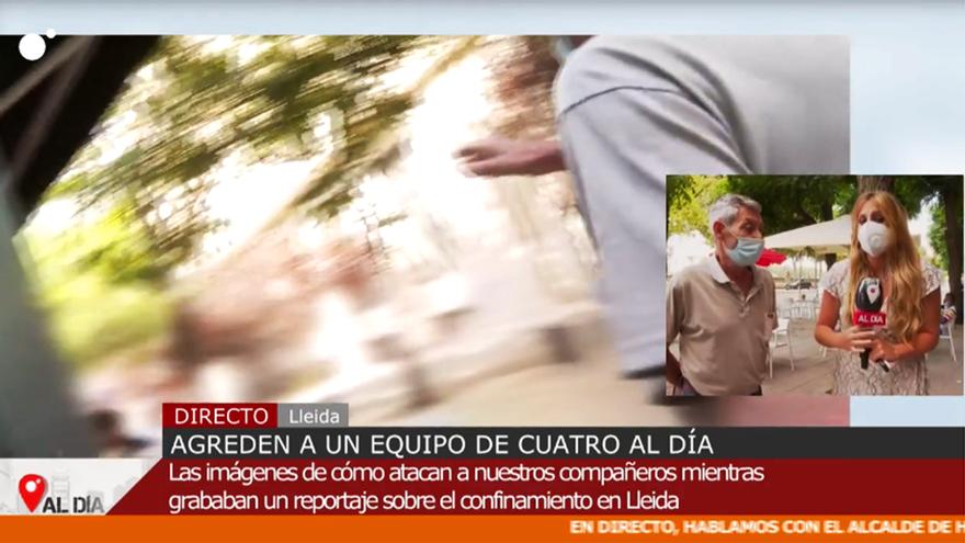 Agreden a un equipo de 'Cuatro al día' en Lleida