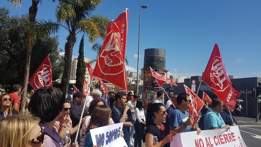Concentración de la plantilla de 'La Opinión de Tenerife'.