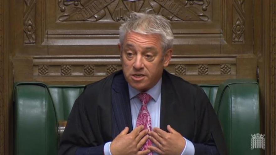 """Bercow condena el ambiente """"tóxico"""" en los Comunes provocado por Johnson"""