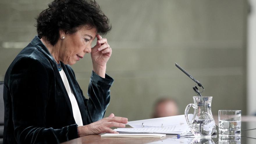 """Celaá se compromete a mantener la """"neutralidad"""" que le exige la JEC en la rueda de prensa del Consejo de Ministros"""