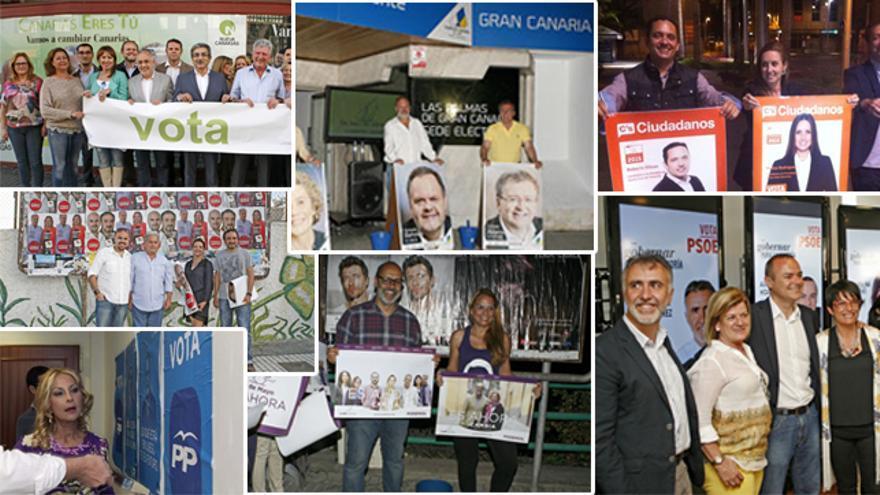 Campaña electoral en Las Palmas de Gran Canaria. (Canarias Ahora).