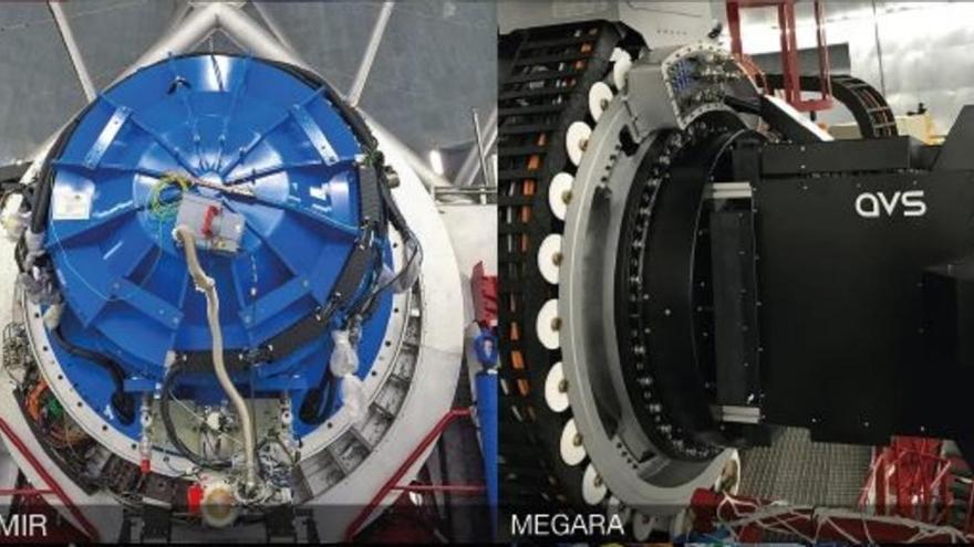 Los dos instrumentos del Gran Telescopio Canarias.