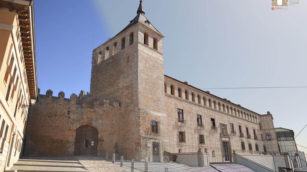 Recreación virtual del Palacio de Berlanga de Duero en el siglo XVI.
